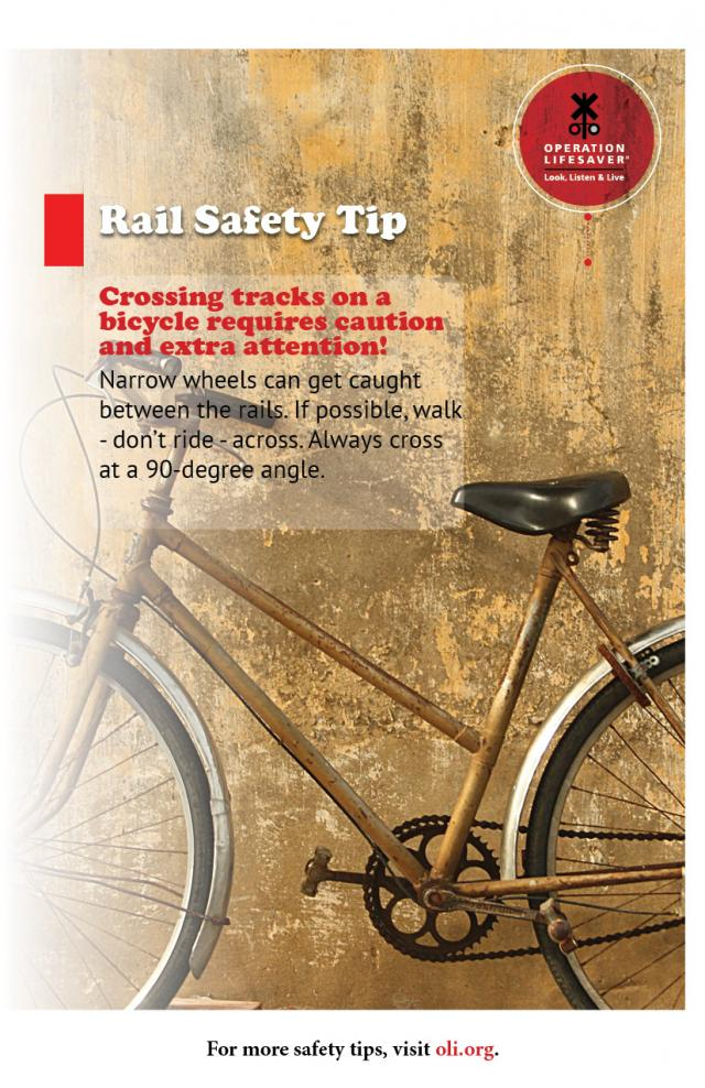 image of a bicycle with safety tips