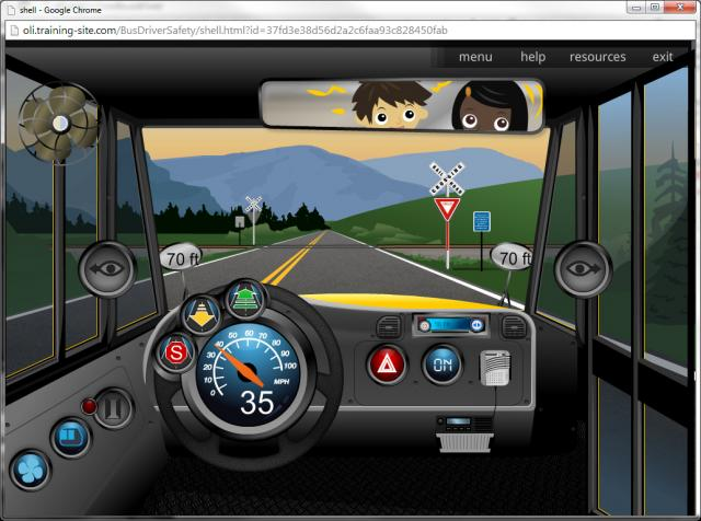 image from the school bus driver elearning