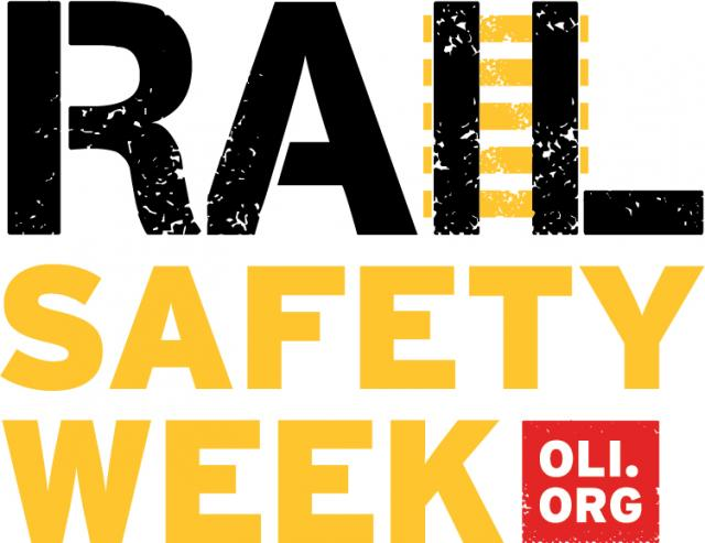 rail safety week logo with operation lifesaver website address