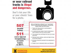 rail safety tips for photographers flyer