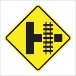railroad crossing intersection sign