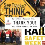 a collage of rail safety week images with thank you message