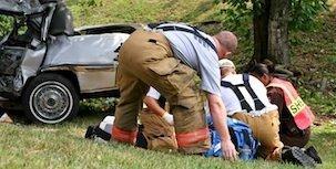EMT At crash scene