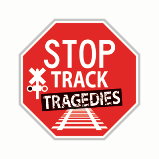 The Stop Track Tragedies campaign logo